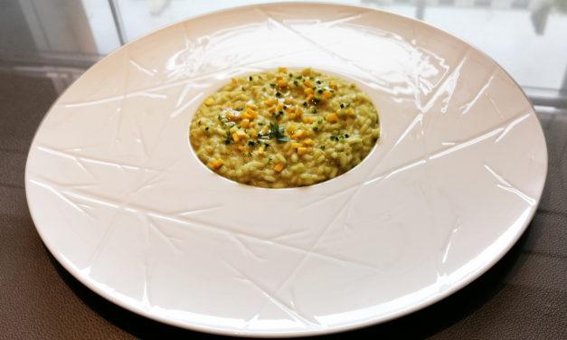 Courgette risotto of Massimo Tringali