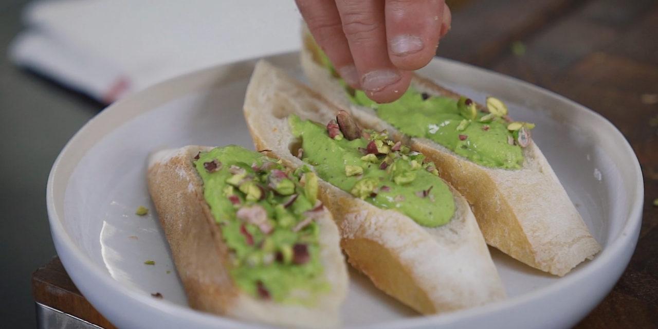 Pistou de salicornes et pistaches de Gaël Orieux