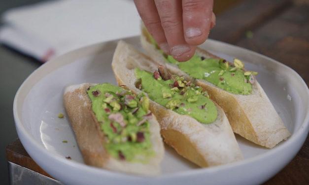Samphire and pistachio pistou by Gael Orieux