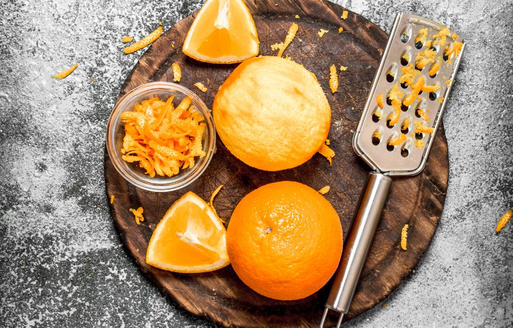 Le zeste d'orange comme zeste écolo