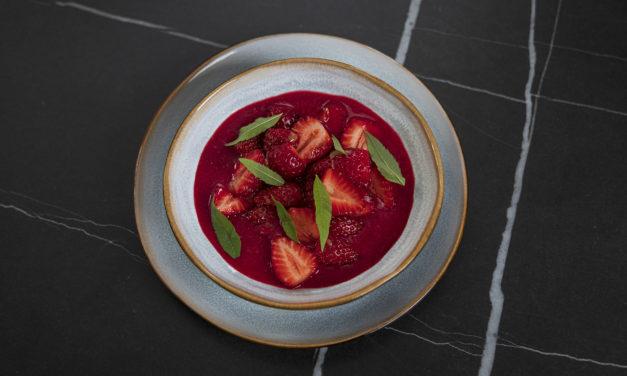 Nage fraise & betterave de Gaël Orieux